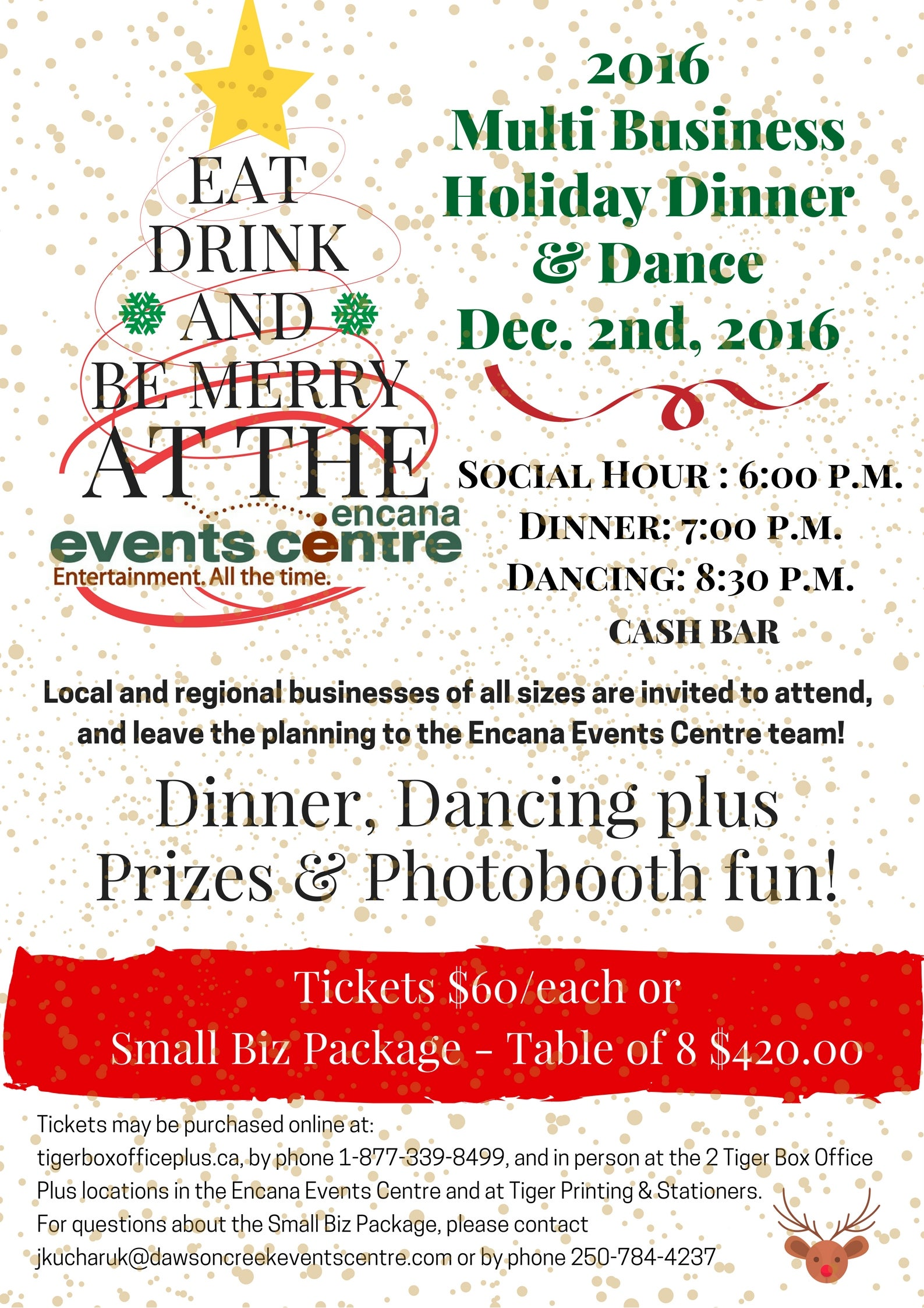 SOLD OUT - 2016 Multi Business Holiday Dinner & Dance | Encana ...